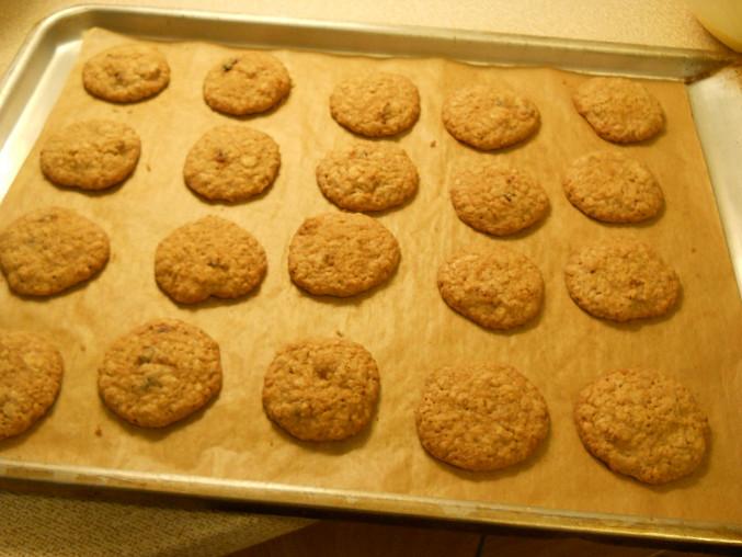 Sušenky z ovesných vloček, po upečení