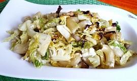 Těstoviny  s kapustou a sýrem