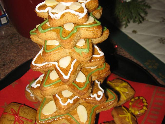 Vánoční stromeček z perníků