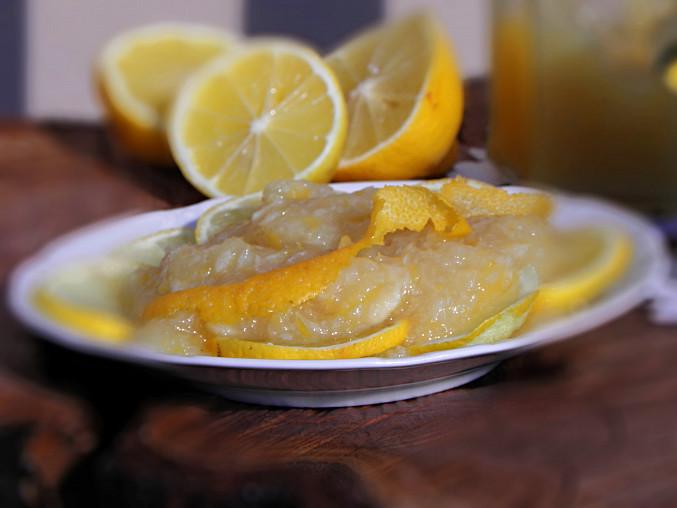 Citrónová marmeláda, detail citrónová marmeláda