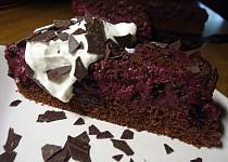 Čokoládovo - borůvkový dort