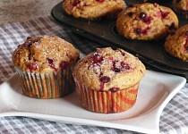 Kořeněné muffiny s brusinkami