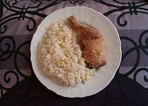 Kuře na česneku s rýží