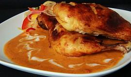 Kuře na paprice s kokosovým mlékem