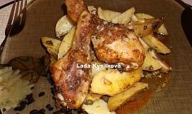 Kuřecí paličky na tymiánových bramborách