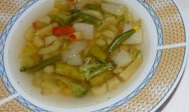 Polévka z odřezků zeleného chřestu a zeleniny