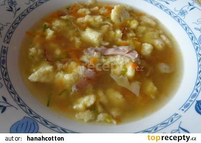 """Rychlá,,kuřátková"""" polévka"""