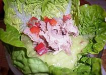 Tuňákový salát s avokádovým dresinkem - Ensalada de Atún con Aderezo de Aguacate