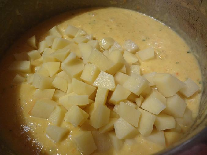 Chřestová polévka s mrkví