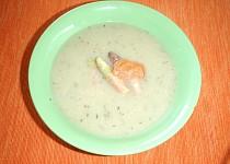 Chřestová polévka s uzeným lososem