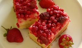 Hrnkový ovocný koláč s tvarohem