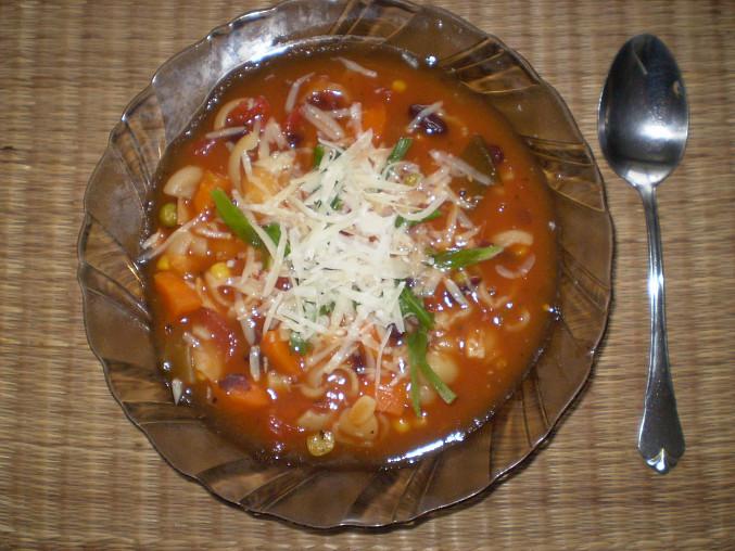Italská polévka minestrone