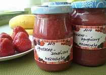 Jahodovo - banánová marmeláda (meruňková višňová,....)