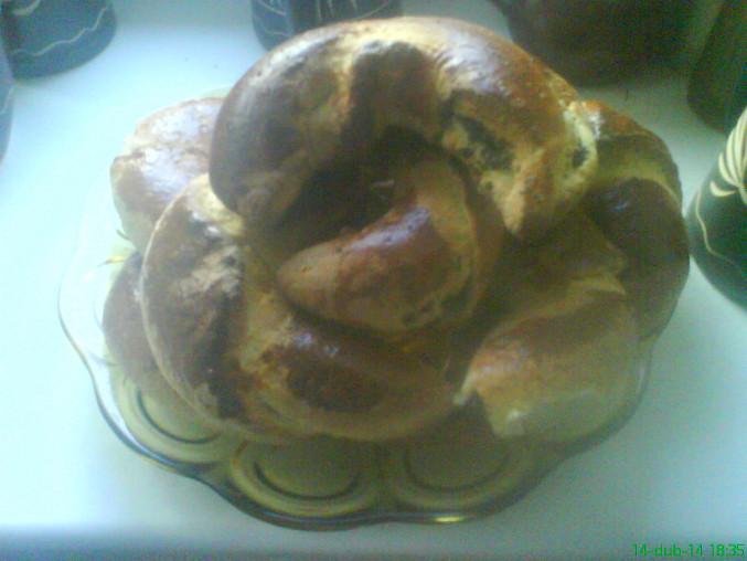 Kynuté koláče s tvarohem, makové rohlíky