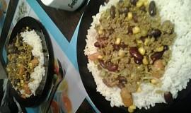 Mleté maso na kari s rýží