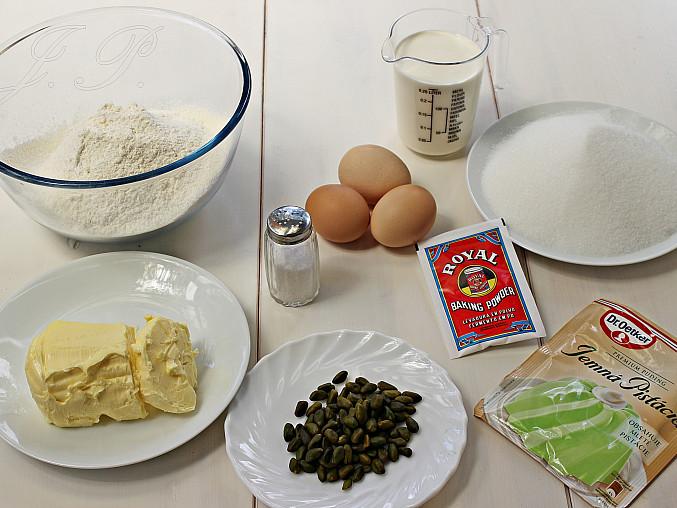 Pistáciový chlebíček s jogurtovou polevou, Suroviny chlebíček