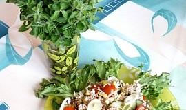 Pohankový salát se zeleninou a oregánem