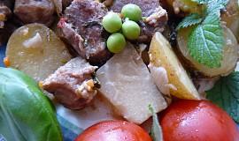 Pomalené plecko na zelenině a bylinkách