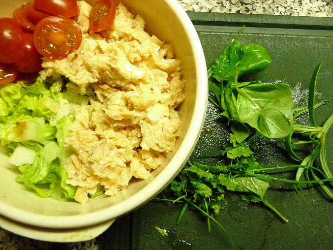 Salátový losos, suroviny