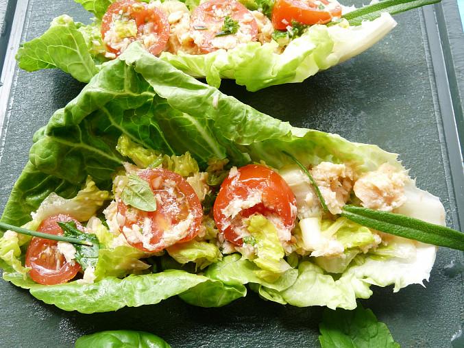 Salátový losos, plním listy