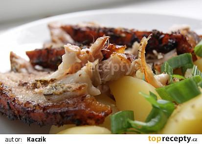Vepřový bok s vůní citronu, česneku a tymiánu