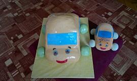 Autíčko dort
