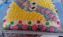 Barevný dort k 18