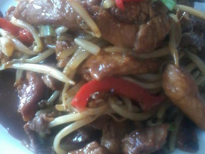 Čínské maso dvou barev