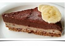 Čoko-banánový dortík (raw)