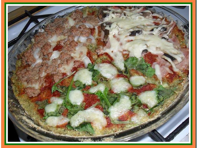 """Cuketová """"pizza"""" tří chutí a vůní"""