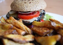 Domácí portobello burgery