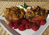 Gratinované broskve nebo meruňky