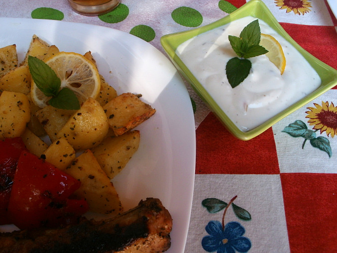 Hřebínky v citronové marinádě, s citronovo-mátovým dresinkem