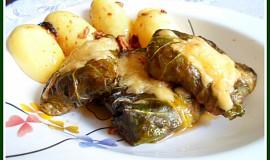 Kapustové balíčky s mletým masem a sýrem
