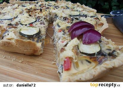 Koláč se zeleninou a sýrem