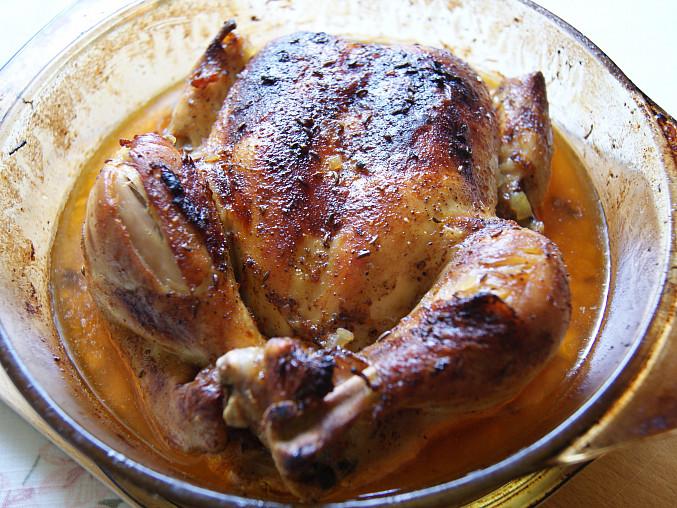 Kuře pečené na jalovčinkách