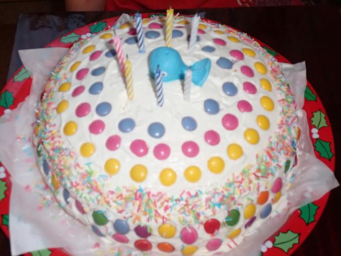 Lentilkový dort pro děti, Hotový dortík