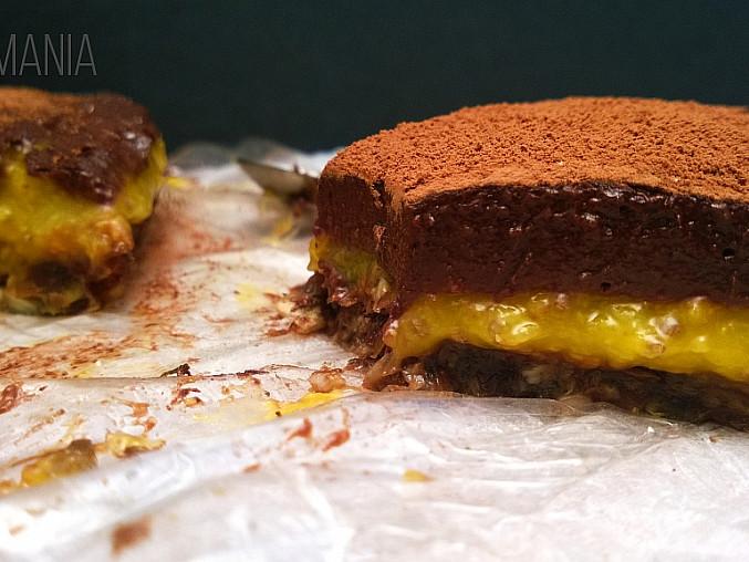 Mangový koláč s čokoládovou polevou, Mangový koláč