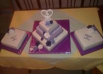 Moje fialkové svatební dorty