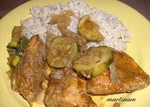 Pečené kuře s cuketou a indickým nádechem