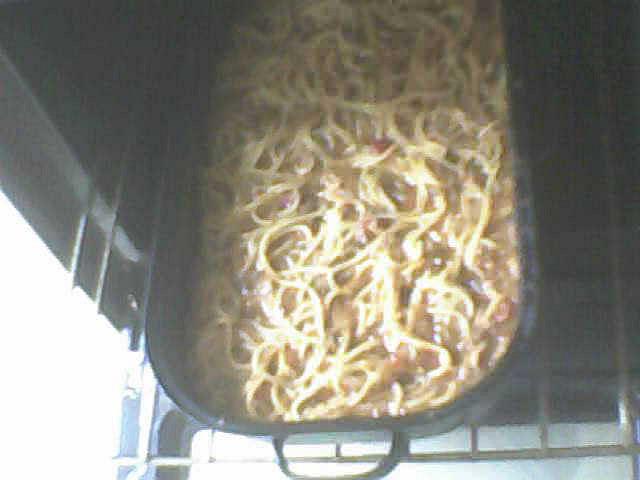 Špagety a lá Iveta, Omlouvám se za kvalitu, foceno  webkamerou