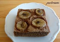 Teffový koláč s banánem bez lepku, mléka a vajec