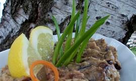 Vypečený baklažán aneb tataráček  z opečeného lilku