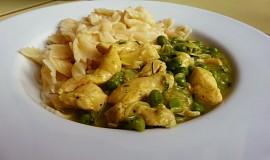 Česnekové kuřecí s hráškem