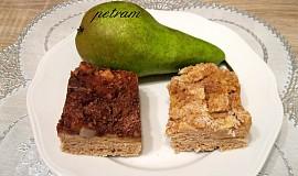 Hruškový koláč s kaštanovou moukou bez lepku, mléka a vajec