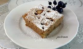 Hruškový koláč s teffovou moukou bez lepku, mléka a vajec