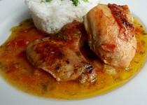 Kuře pečené na zelenině