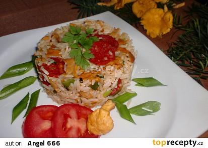 Rýže s liškami a chorizem