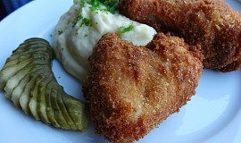Smažené česnekovo-máslové kuře