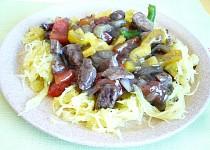 Špagetová dýně s masovo-zeleninovou omáčkou